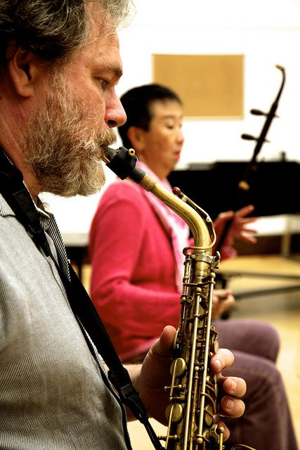 Ben Opie and Mimi Jong play at a rehearsal from November 2013