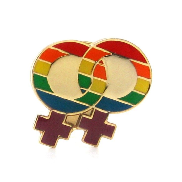 Rainbow Lesbian Pride Lapel Pin - Bed Time Toys