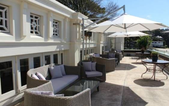 Gorgeous entertaining terrace at Bathers' Pavilion, Balmoral www.eventbirdie.com