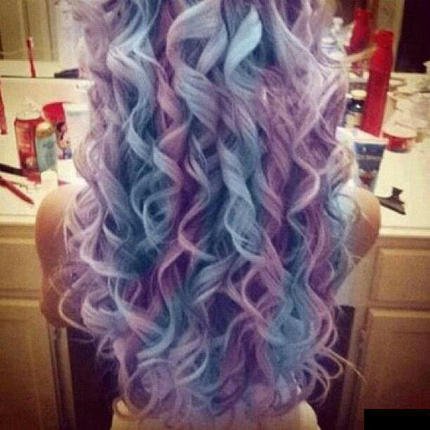 blue and purple wavy - photo #19