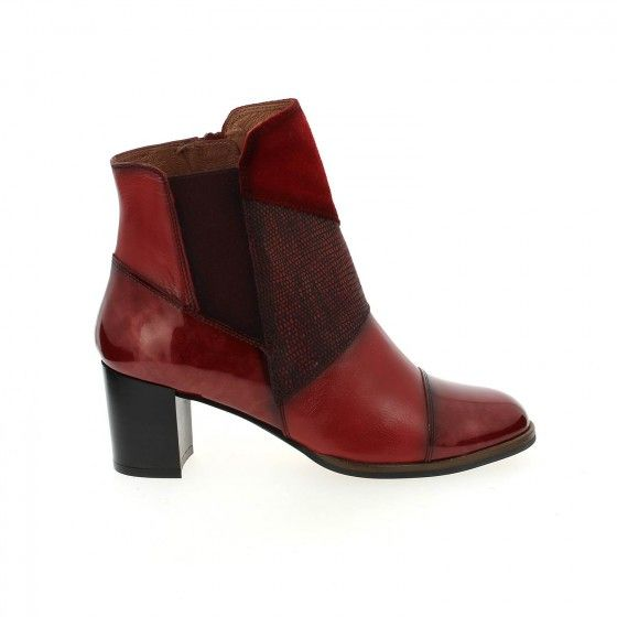 Boots à talons rouge HISPANITAS CLOCLO - Bessec-chaussures.com