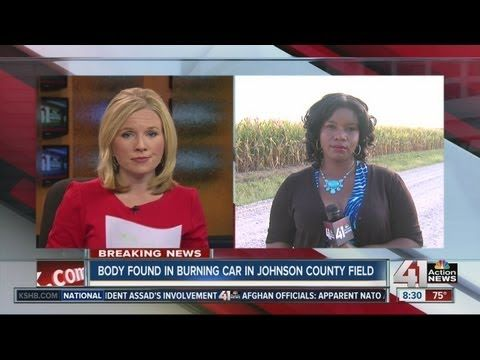 Body found in burning car in Johnson County
