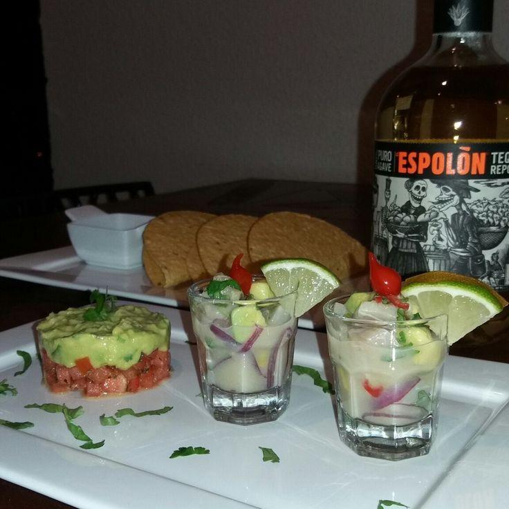 Mini ceviche e mini guacamole #peruvianfood #mexicanfood #fusion #healthyfood