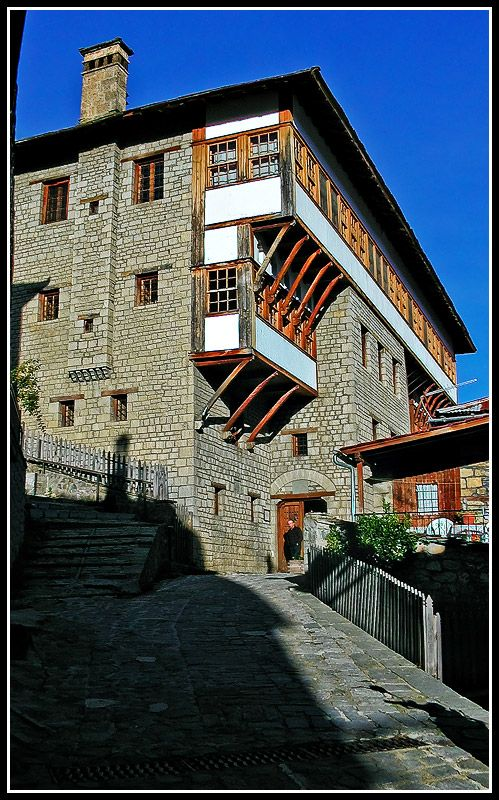 Baron Michael Tossizza Mansion, it was built in 1661, Metsovo, Loannina, Epirus_ Greece