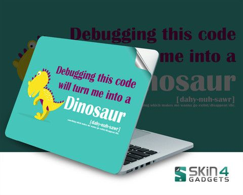 Skin4Gadgets Coding Dinosaur 1 Laptop Skin For 15 and 15.6 inch Laptop