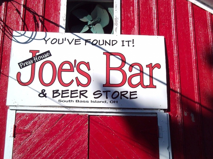 Joe's Bar at Put-in-Bay, Ohio. Off the beaten path, but worth the 5 min golf cart ride. Beer is Food, eat at Joe's.
