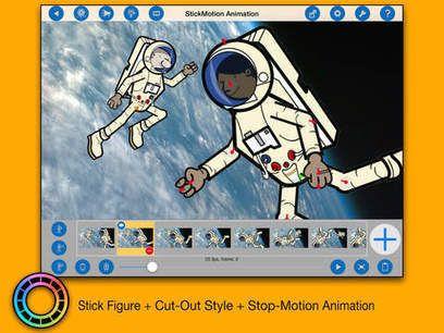 Application Ipad gratuite aujourd'hui StickMotion Animation pour créer des…