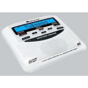 Midland WR-120 Weather & Alert Radio - with Biological Hazard, Civil Emergency Message, Fire, Child Abduction Emergency (Amber Alert), Landslide, Nuclear Power Plant - FM, AM - 7 Weather
