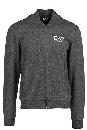 d1d81a0f7 Emporio Armani EA7 Men's Sweatshirt With Zip Sweat Grey Review | Men ...