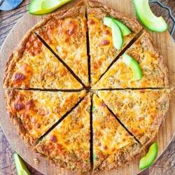Cheesy Avocado Skillet Pizza Bread recipe