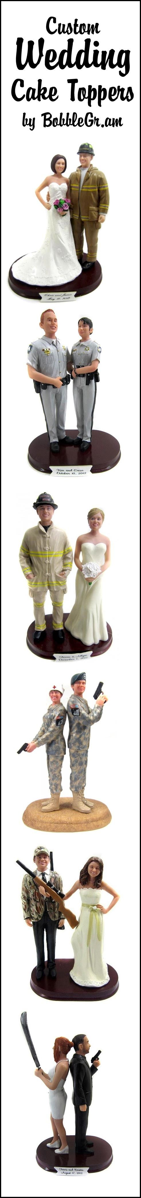 Custom cake toppers are sculpted to look like you!
