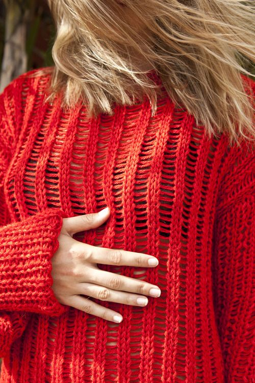 laddered pullover