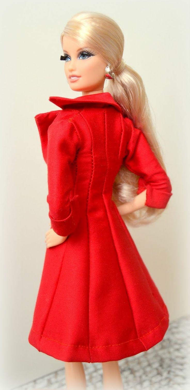 Mi casita de mu ecas abrigo rojo para barbie patr n