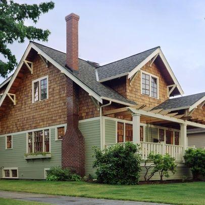 Cedar Shingle Siding With Red Brick Craftsman Style Homes