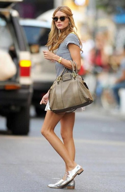 Absolutely adore #OliviaPalermo's metallic oxfords