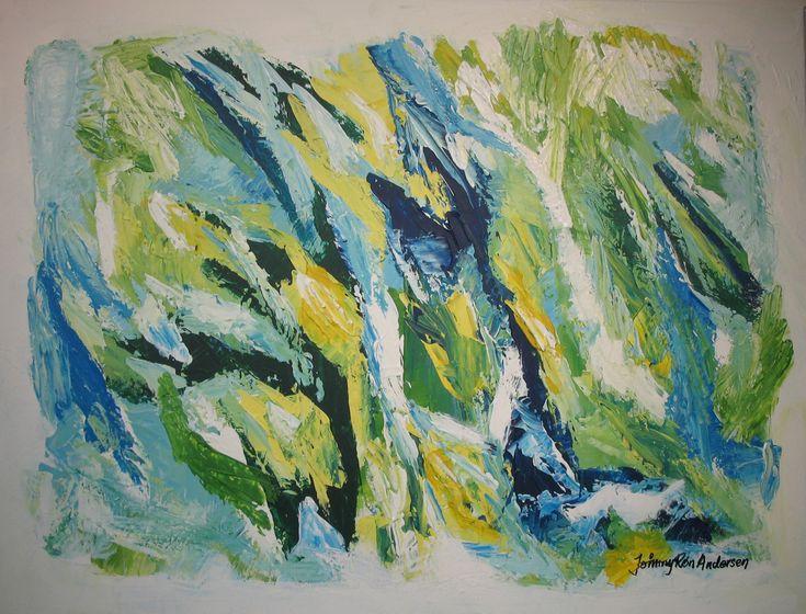 Maleri Green spot 60x80 cm