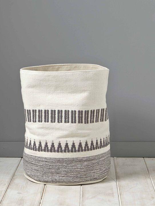 Pour le linge ou les jouets, on adhère au panier en gros coton pratique et…