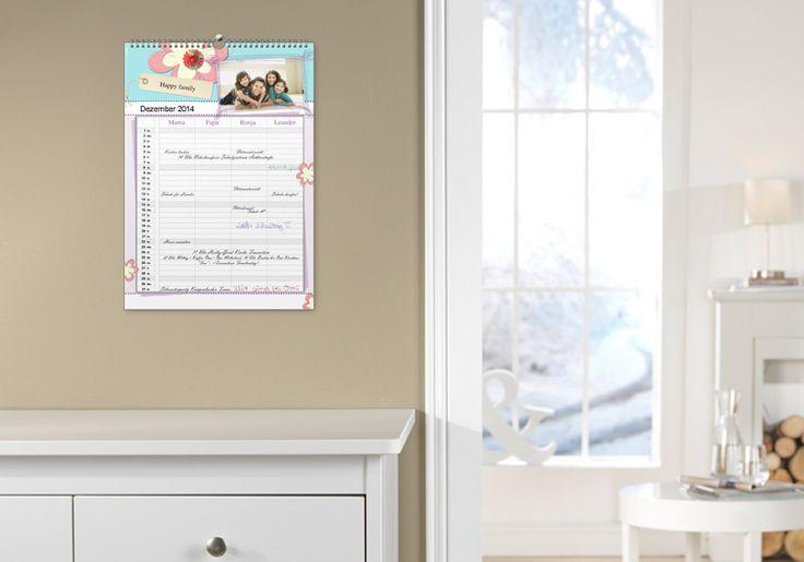 personalisierter familienkalender von cewe, A3