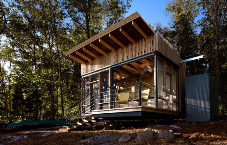 Off-Grid Tennessee Micro Cabin posted in Tiny House on Sep 21, 2014 by Michael Janzen