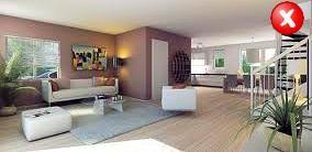 woonkamer met teveel lege ruimte