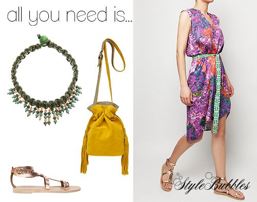 Spice up your day with color and accessories! Mix your favorite pieces with a statement shirt dress and pile it on!  #StyleBubbles #ValiaGabriel #SummerEssentials #fashion #onlineshopping