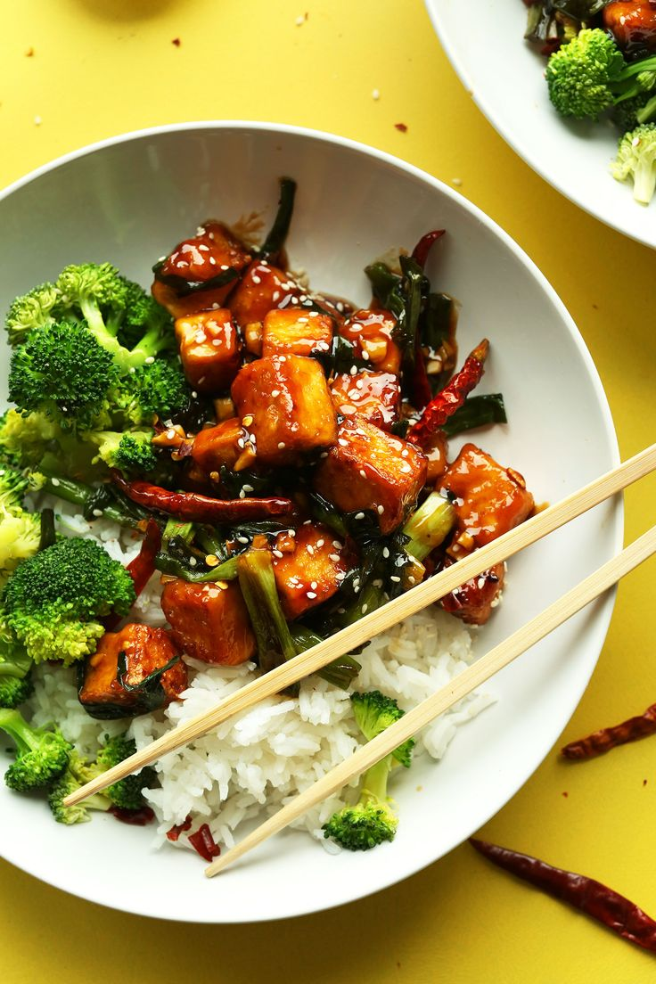 General Tso's Tofu in 30 minutes