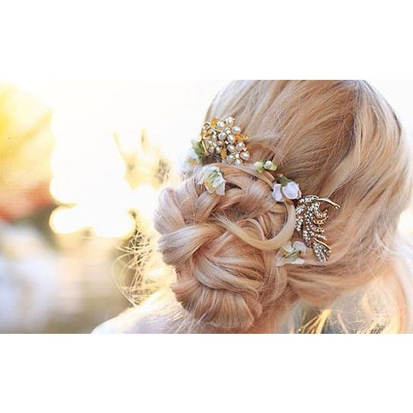 Evelina Barry's DIY Bridal Updo ❤ liked on Polyvore featuring hair, hairstyles and models