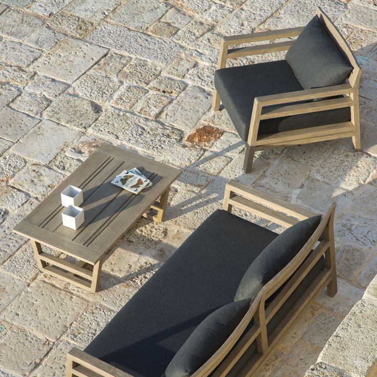 Wooden lounge chair with upholstery #interiordesign #contractfurniture #wovenfurniture #natualfurniture #retail #b2bfurniture #outdoorfurniture
