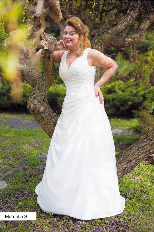 Brautkleid Marusha aus der Lohrengel Brautmoden Kollektion Molly Monroe 2015 :: plus size bridal dress from the 2015 Molly Monroe Collection by Lohrengel