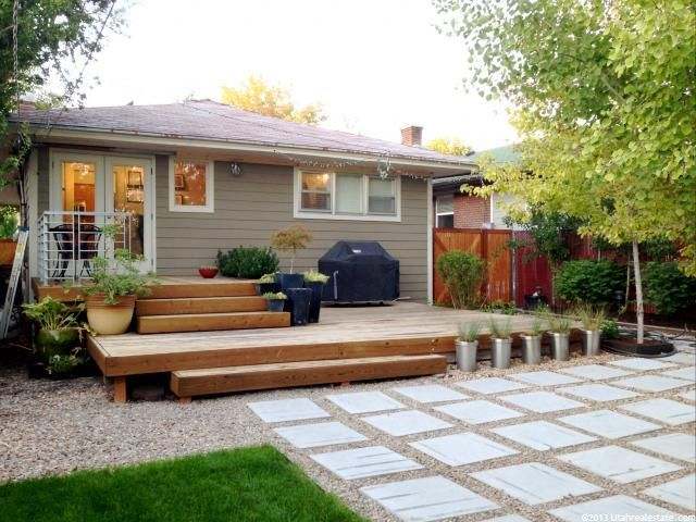 Deck Ideas For Steep Backyard : steep block house backyard decks  Google Search  backyard decks