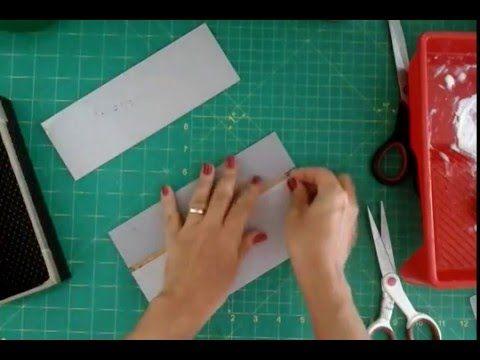 Como fazer uma caixa de cartonagem aula 1 para iniciantes - YouTube