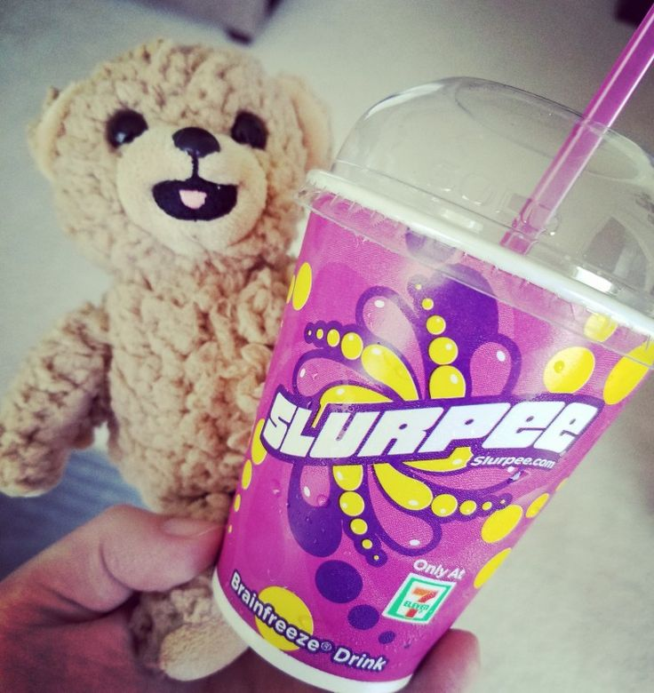 Snuggle Bear joined us on 7-11 Day to enjoy an ice cold free slurpee!  . #SnugglesPawesomeSummer #SnuggleBear #SnuggleBearDen #Snuggle #SnuggleMission #slurpee #711 #7eleven #7elevenday #freeslurpee #freeslurpeeday #freesample #gotitfree #ad
