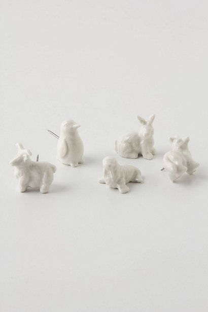 Artic animal push pins / drawing pins from Anthropologie - I wish they came in sets with just the penguin!