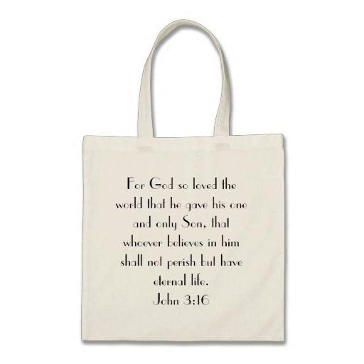 John 3:16 for god so loved the world Tote bag