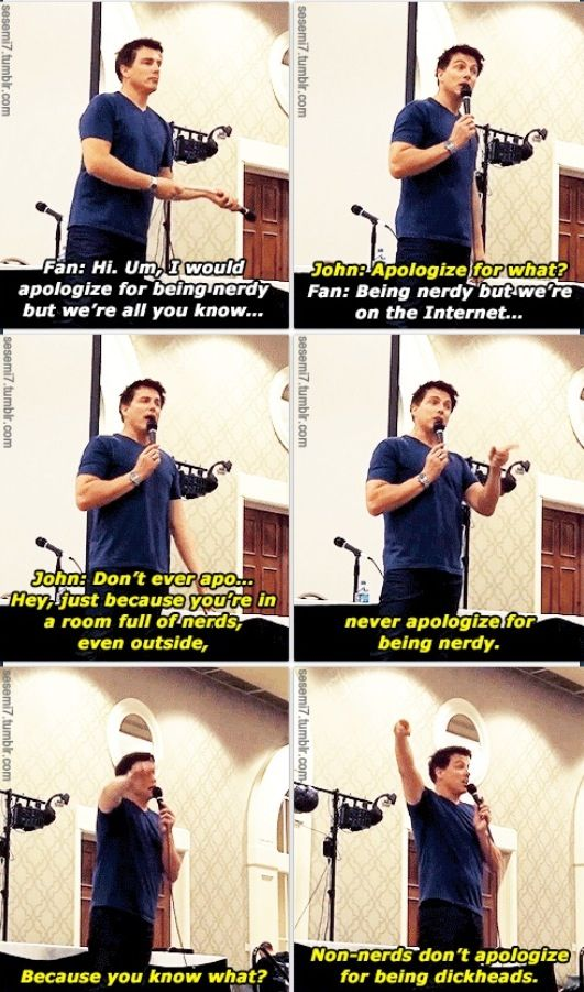 One of the many reasons why I love John.    via sesemi7.tumblr.com