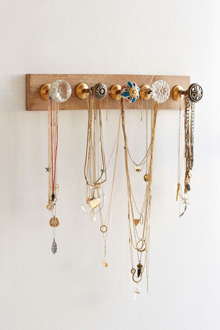 Keep an eye out for cute vintage drawer pulls to use for jewelry
