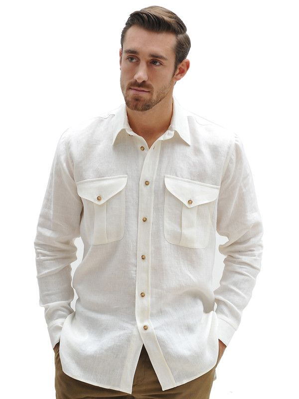 Italian Linen Safari Shirt http://geraldwebster.com/collections/mens-apparel/products/italian-linen-safari-shirt