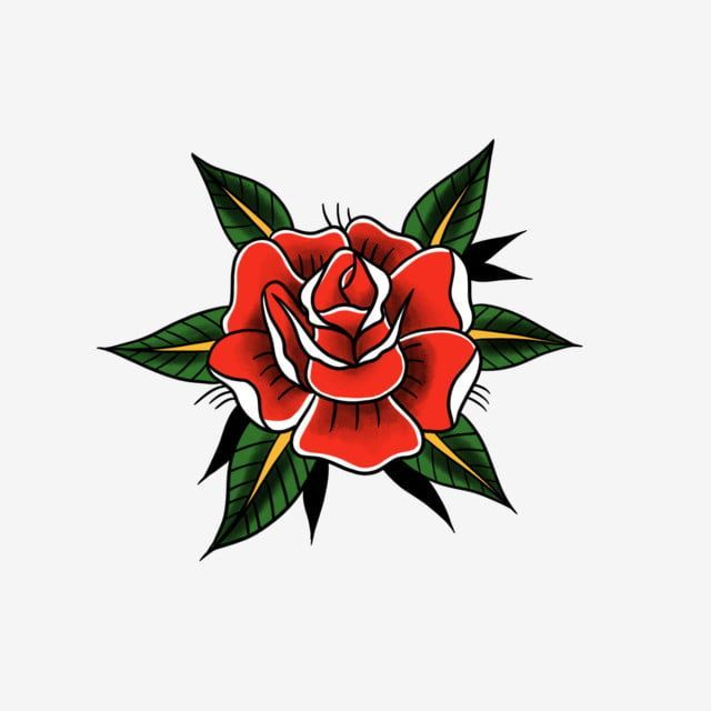 Old School Tattoo Tattoo Tattoo Rose Rose Tattoo Rosa Arquivo Png E Psd Par Telechargemen Traditional Rose Tattoos Old School Rose Old School Tattoo Designs