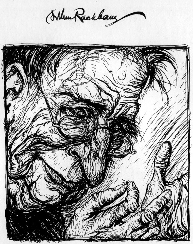 Self-Portrait by Arthur Rackham, used in the book Aesop's Fables, 1912.