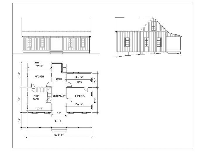 Intriguing dogtrot layout like the out side but maybe for Dog trot house plans