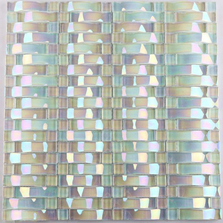 glass mosaic tile arched crystal glass tile backsplash yf89 iridescent wall tiles