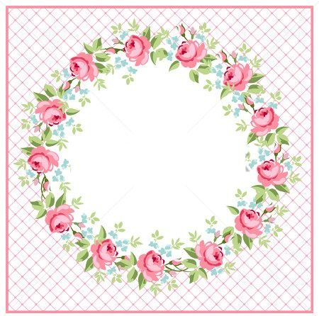 1414 best images about frames floral on pinterest clip for Flower tags template free