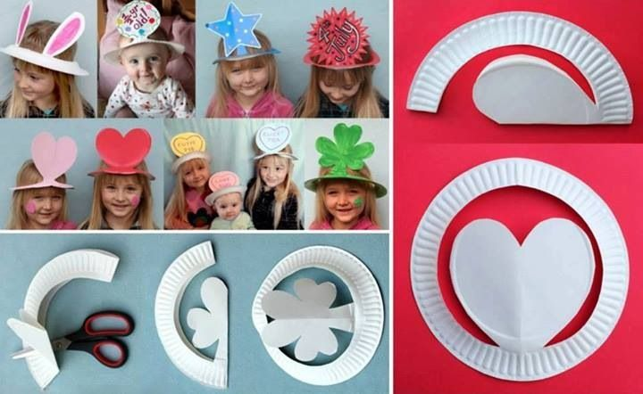 Make paper plate hats!