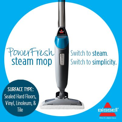 BISSELL AUSTRALIA - Power through any mess with PowerFresh Steam Mop - not only does it clean, it sanitises too, ridding your floors of 99.9% of germs and bacteria when used as directed! Find it here at http://www.bisselloutletstore.com.au/powerfresh-steam-mop.html