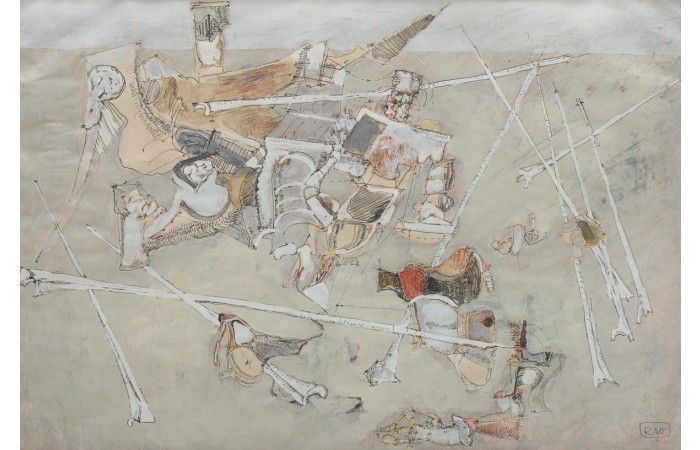 LOT 75 - ŞTEFAN RÂMNICEANU - Inner Connections - Tempera and ink on paper - 51 × 76 cm (20.1 × 29.9 inch) - Estimate €400 - €700 http://lavacow.com/current-auctions/lavacow-christmas-auction/inner-connections.html#sthash.1WuZUa4t.dpuf