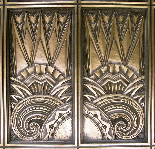 Elevator Doors - Richfield Building - Los Angeles (demolished)