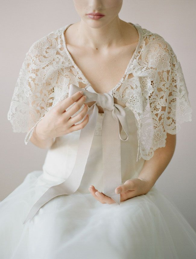 2014 Wedding Trends | Capes & Wraps | Myra Callan Bridal and Twigs & Honey 2014 Collections