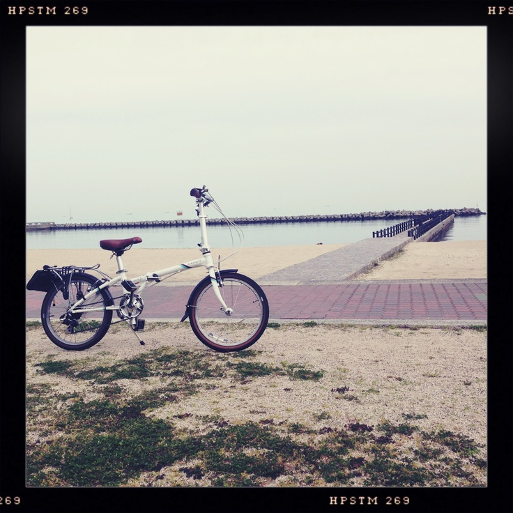 with my bike