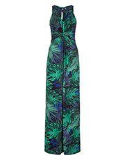 Lois Butterfly Print Maxi Dress