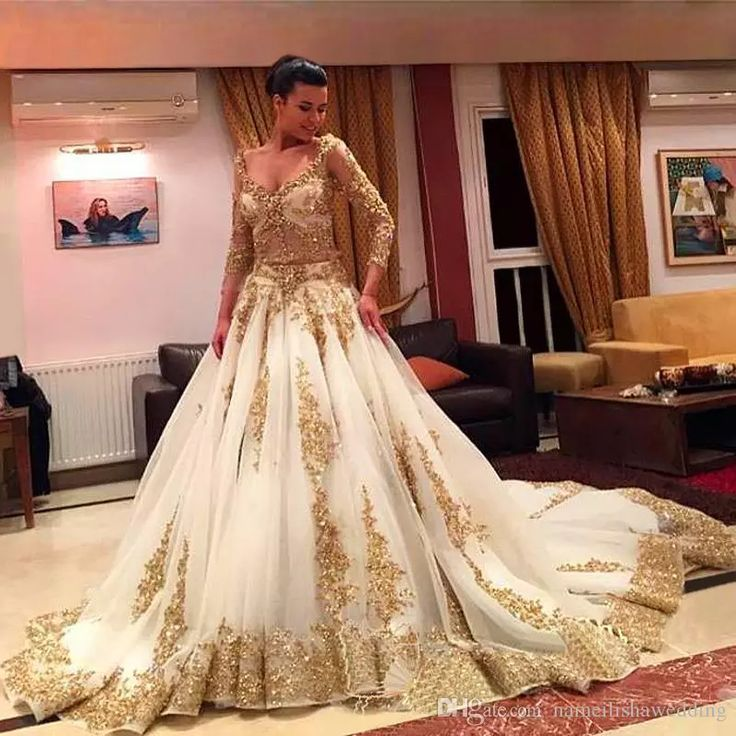 African Traditional 2017 Wedding Dresses Gold Applique Formal Long Sleeves Bridal Gowns Organza Sweep Train Arabic Vestidos Wedding Dress Hire Wedding Dress Outlet From Nameilishawedding, $160.81| Dhgate.Com
